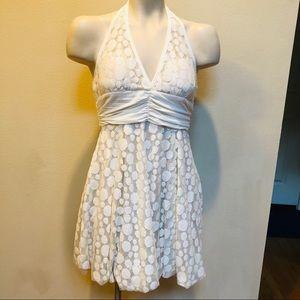 F21 Lacey halter dress cream NWT size S